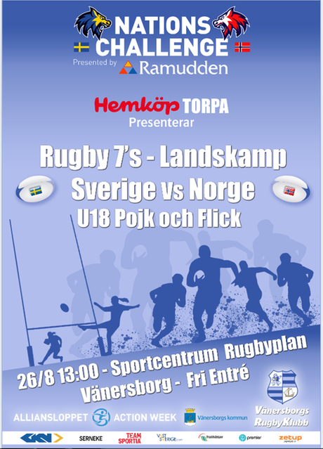 Bild landskamp i juniorrugby 2018